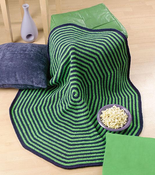 Spiral Crochet Flower Pattern Free : Spiral Lapghan free crochet pattern ? Crochet Kingdom