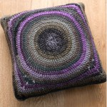 Spiral in a Square Motif Cushion Free Crochet Pattern