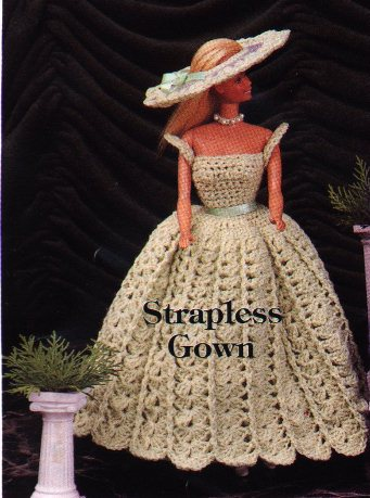 Strapless Gown for Barbie Free Crochet Pattern