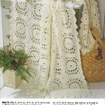 Lacy square crochet afghan pattern