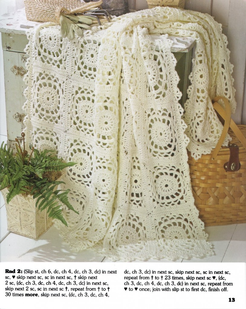 The Best of Maggie Weldon 013-Lacy Squares Afghan