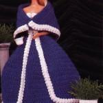 Winter Formal Dress for Barbie Free Crochet Pattern