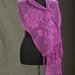 Winter Rose Filet Wrap Free Crochet