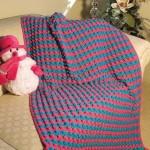 Bright Popcorns Baby Blanket Crochet