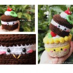Free pattern for a Chocolate Cake Amigurumi