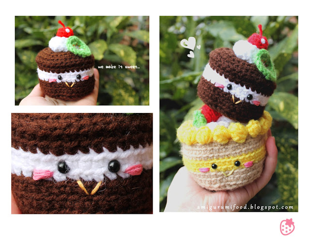 Free pattern for a Chocolate Cake Amigurumi ⋆ Crochet Kingdom