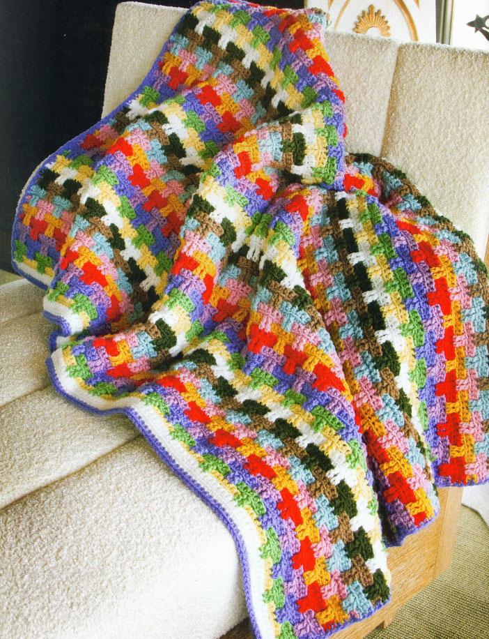 Scrap Afghan Crochet Pattern ⋆ Crochet Kingdom