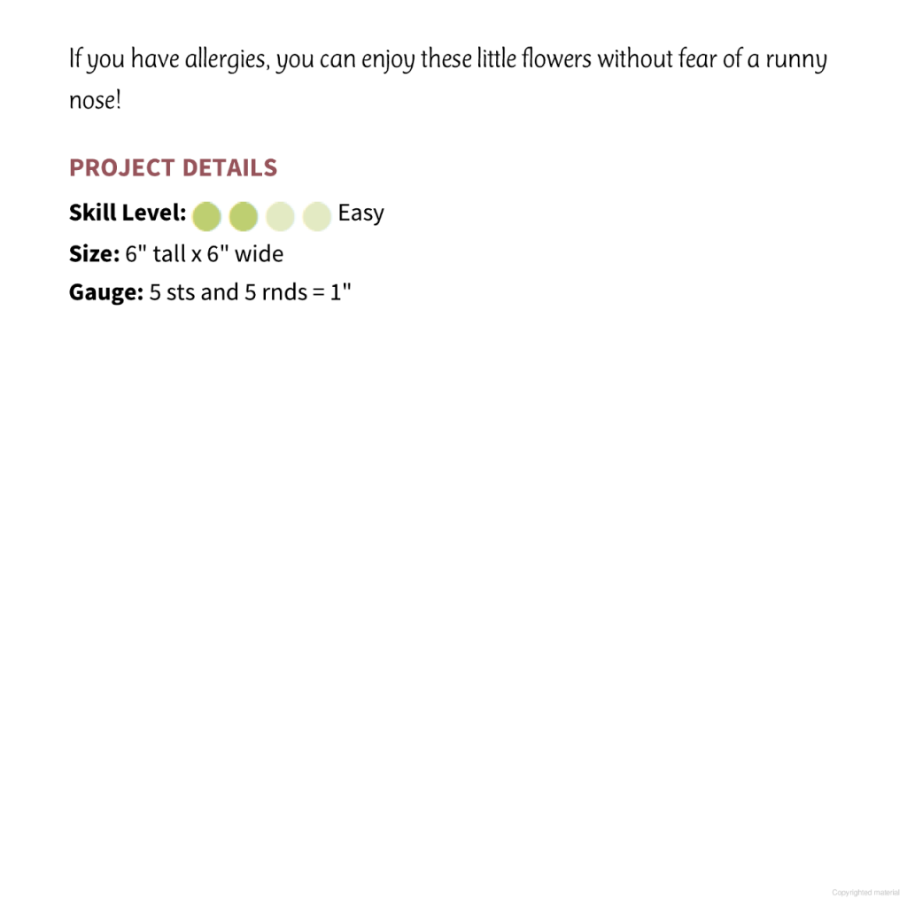 daisy amigurumi pattern 2
