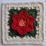 Blomst Crochet Square