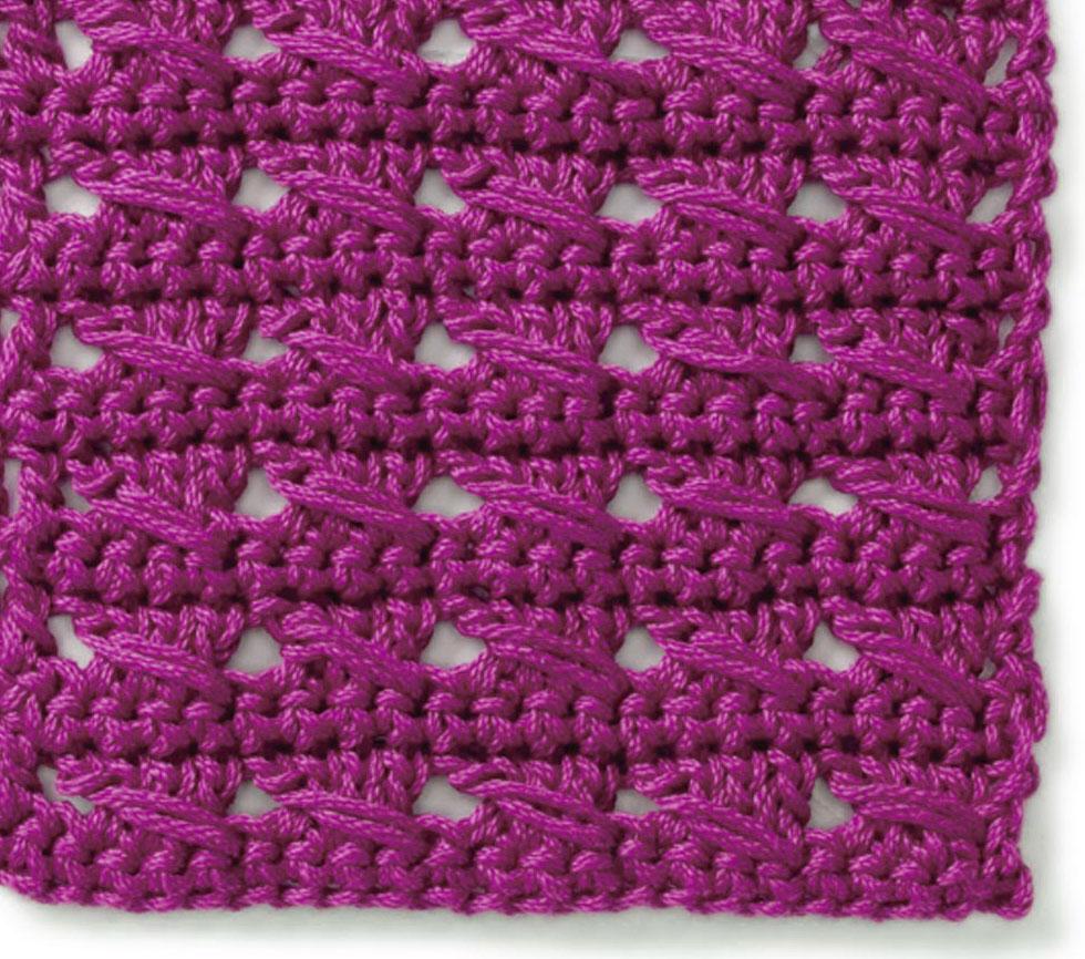free cable crochet stitch crochet kingdom. Black Bedroom Furniture Sets. Home Design Ideas