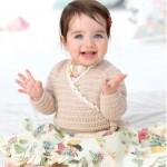 Free Patons baby Kimono Crochet Cardigan Pattern