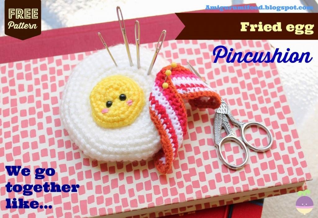 Fried Egg Pincushion Amigurumi Free Crochet Pattern Crochet Kingdom