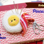 Fried Egg Pincushion Amigurumi Free Crochet Pattern