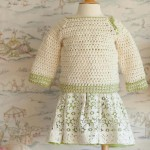 Ivory and green baby crochet pullover pattern