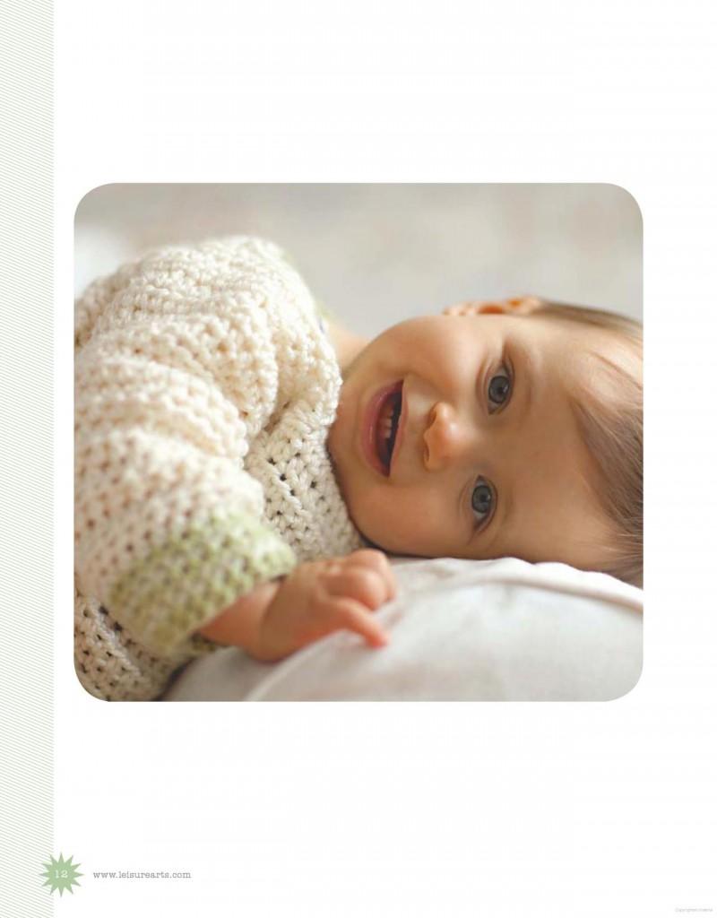 ivory green baby crochet pullover pattern 2
