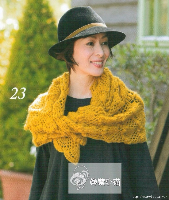 large fan shawl crochet pattern