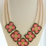 Crochet Dogwood Necklace