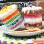 Rainbow cake amigurumi pattern
