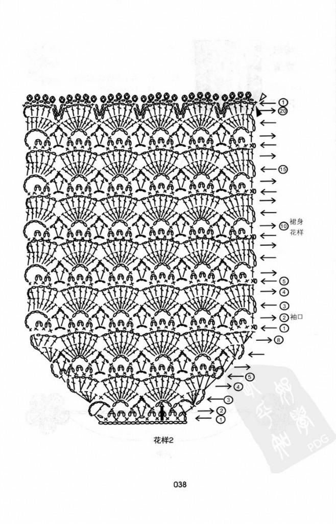 shell baby dress crochet 2