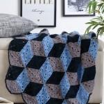 3D Diamond Throw Free Crochet