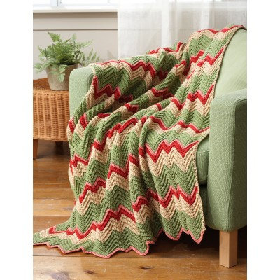 Striped Ripple Afghan Crochet Pattern Crochet Kingdom