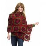 Caron Yuletide Wrap Crochet Pattern