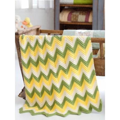 Caron Zig Zag Baby Blanket Crochet Free