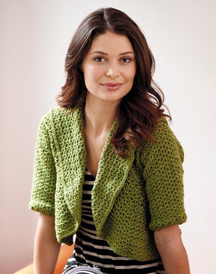 Cropped Cardi free crochet pattern