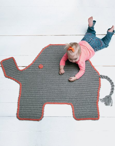 Josefina and Jeffery Elephant Rug PDF Crochet Pattern | Elephant ... | 564x445