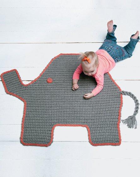 Elephant Crochet Rug