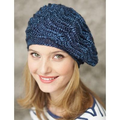 Patons Wave Stitch Beret Free Crochet