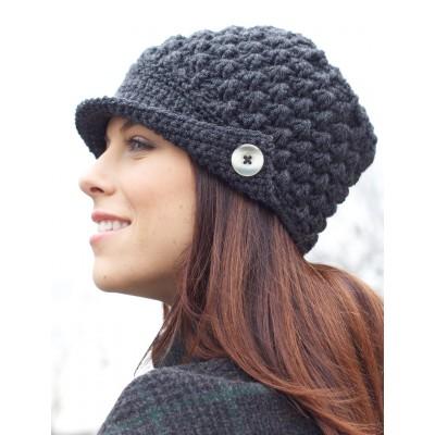 Women's Peaked Free Women's Hat Crochet Pattern