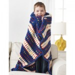 Woven-Look Striped Child's Blanket Crochet Pattern