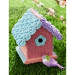 Yarn-Bombed Birdhouse - Free Crochet