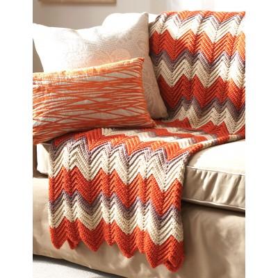 Zig-Zag Afghan free crochet pattern