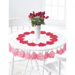 Valentines Tablecloth Free Crochet Pattern