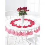 Valentines Tablecloth Free Crochet Pattern