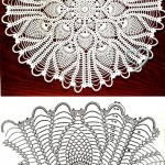 Round Pineapple Doily Diagram
