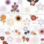 A variety of flower pattern handmade crochet pattern