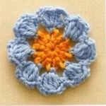 Round Little Flower Motif Crochet