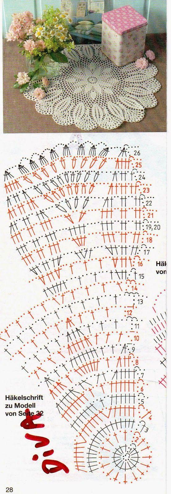 Round Doily Diagram ⋆ Crochet Kingdom