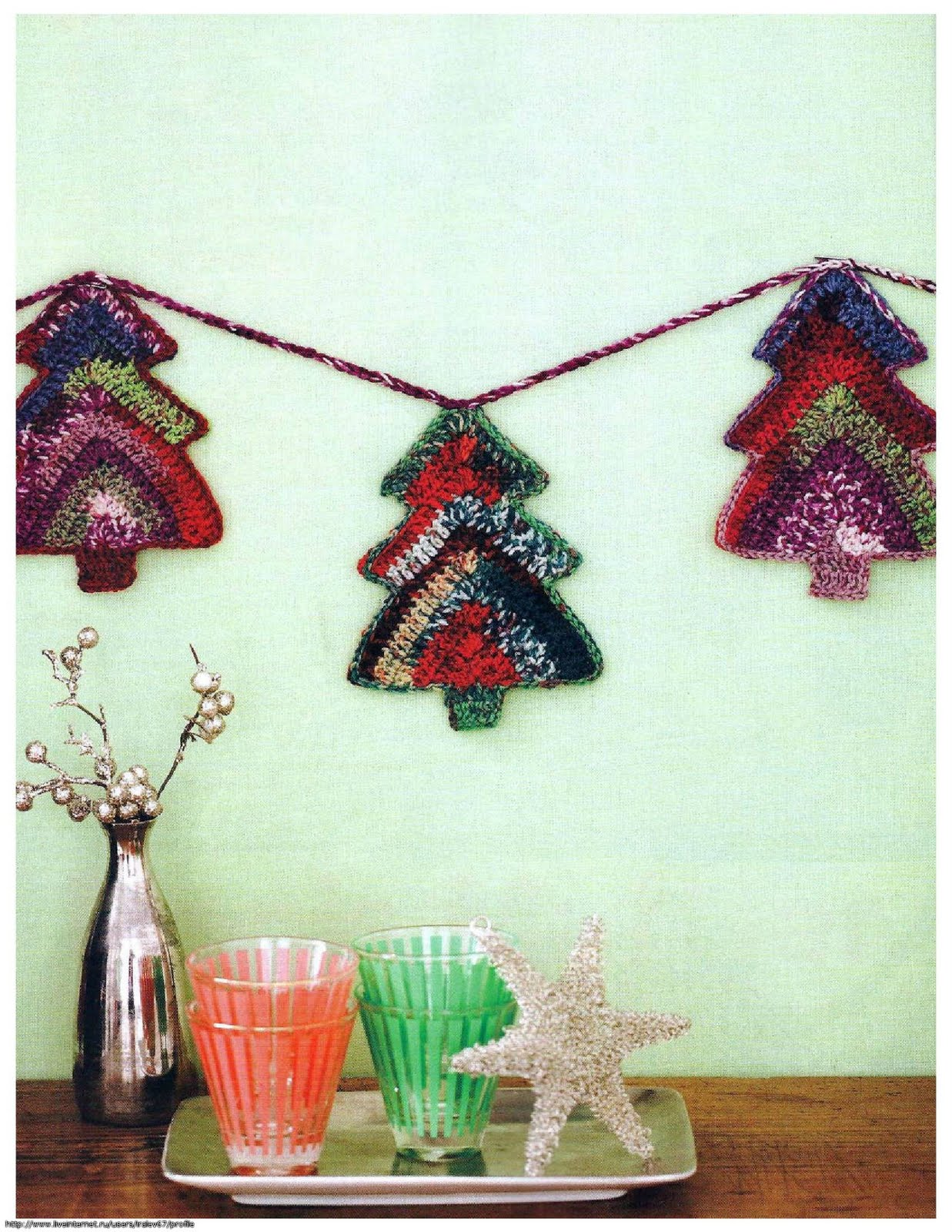 Christmas Tree Garland Crochet Kingdom