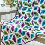 Diamonds Throw Crochet Pattern