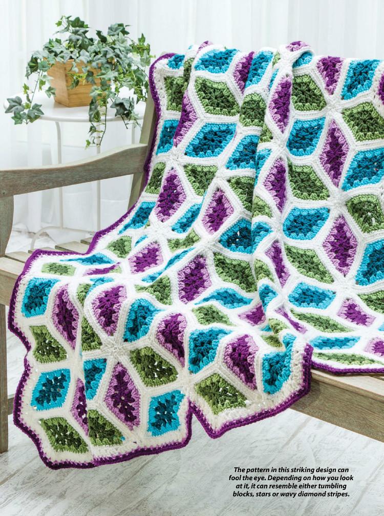 Diamonds Throw Crochet Pattern Crochet Kingdom