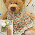 Baby Bottle Cozy & Bib free crochet set pattern