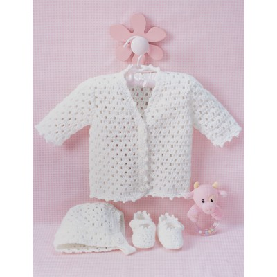 Baby Lacy Set Free Crochet Pattern