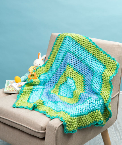 Beach Time Hexagon Blanket Free Crochet Pattern