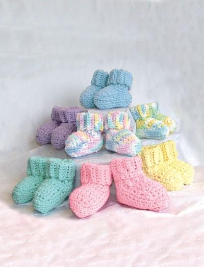 Bernat Handicrafter Cotton - Bibs & Booties (crochet) 1