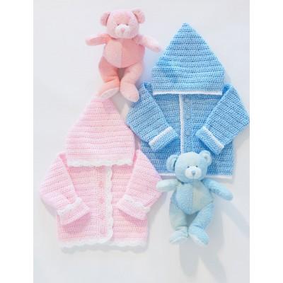 Bernat Sweet Baby Hoodie Free Crochet Pattern