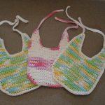 Free Crochet Pattern: Cotton Baby Bibs